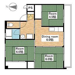 ビレッジハウス小堀I・II[2-302号室]の間取り