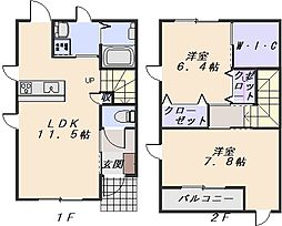 クラヴィエ A棟[2階]の間取り