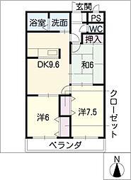 エスアンドエスマンション[2階]の間取り
