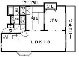 ミアフォレスタ[4階]の間取り