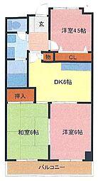 埼玉県さいたま市緑区東浦和3丁目の賃貸マンションの間取り