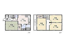 [一戸建] 神奈川県横須賀市平作1丁目 の賃貸【/】の間取り