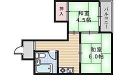 センチュリーロイヤル昭和町[602号室]の間取り