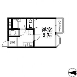 セントラルハイツIII[402号室号室]の間取り