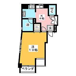 サンハイム東山[3階]の間取り
