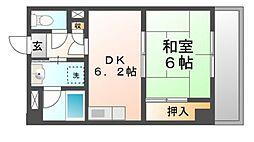 パルステージ武庫之荘[4階]の間取り