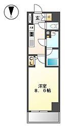 エルスタンザ徳川[9階]の間取り