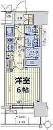 JR大阪環状線 京橋駅 徒歩7分の賃貸マンション 6階1Kの間取り