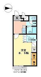 兵庫県たつの市龍野町末政の賃貸アパートの間取り