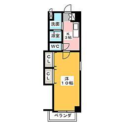 ウィンハイツ勝川[1階]の間取り