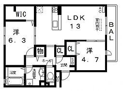 仮)D-room高美町[107号室号室]の間取り
