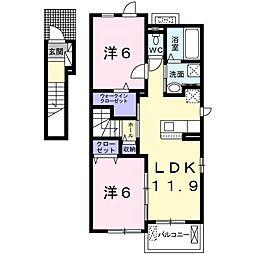(仮)大塚町アパート[201号室]の間取り