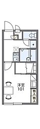 レオパレスメイプル6[2階]の間取り