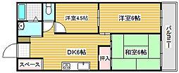 大阪府大阪市西成区千本北2丁目の賃貸マンションの間取り