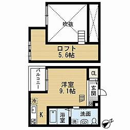 アパートメントK (アパートメントケー)[1階]の間取り