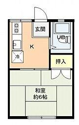 セゾンドルミナA棟[1階]の間取り