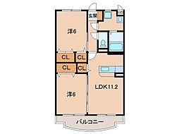 ボナール1号館[2階]の間取り