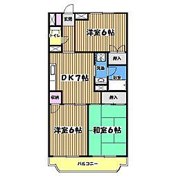 ルミナス武蔵野[3階]の間取り