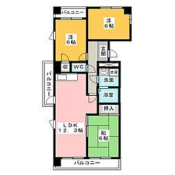 サンピラーSUZUKI[3階]の間取り