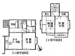 [テラスハウス] 神奈川県横浜市都筑区北山田5丁目 の賃貸【/】の間取り