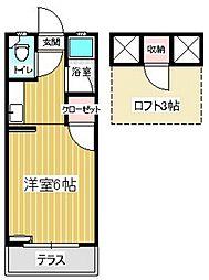 セーヌ松崎[208号室]の間取り