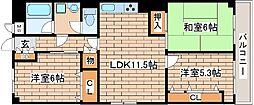兵庫県神戸市灘区上野通1丁目の賃貸マンションの間取り