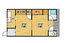 高宮マンション[3階]の間取り
