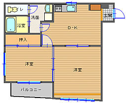 長崎県長崎市銀屋町の賃貸マンションの間取り