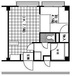 リーダーマンション[3階]の間取り