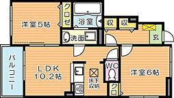 ネオグリーンレジデンス A棟[1階]の間取り