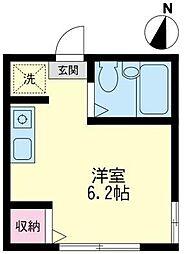 神奈川県藤沢市鵠沼石上3丁目の賃貸アパートの間取り