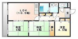 ラルゴ朝霧[2階]の間取り