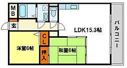 福岡県太宰府市坂本1丁目の賃貸マンションの間取り