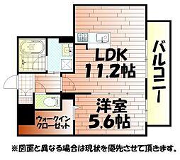 サンシャインタワー陣原[9階]の間取り