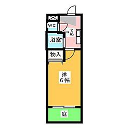 メゾンハクサン[1階]の間取り