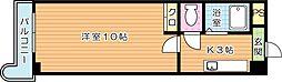 第11エルザビル[4階]の間取り