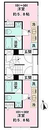 GRACIA MINOWA[2階]の間取り