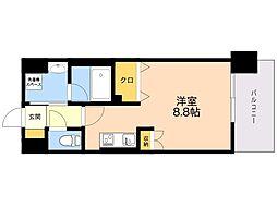 LANDIC K320 11階ワンルームの間取り