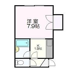 ロアール新札幌C[210号室]の間取り