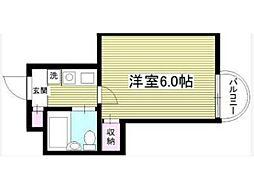 サンシティ稲田堤第5[2階]の間取り