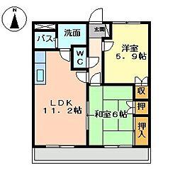 コンフォールパレス[2階]の間取り