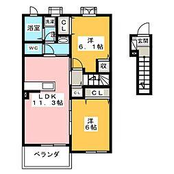Y PLACE II[2階]の間取り