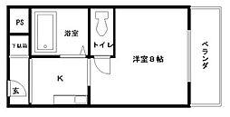 アバンティ貝塚II番館[226号室]の間取り