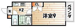 カントリービル[1階]の間取り