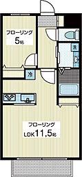 フォンテーヌB[2階]の間取り