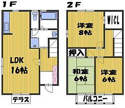 [テラスハウス] 埼玉県さいたま市中央区新中里4丁目 の賃貸【埼玉県 / さいたま市中央区】の間取り