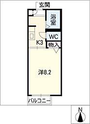 ディアス前田 B棟[1階]の間取り