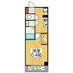 アルティスタ祇園[4階]の間取り