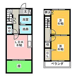 [テラスハウス] 静岡県富士宮市山宮 の賃貸【/】の間取り