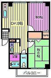 タケノヤハイツ原町[2階]の間取り